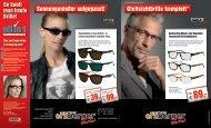 Gleitsichtbrille komplett* Sonnengenießer aufgepasst! - Erzberger
