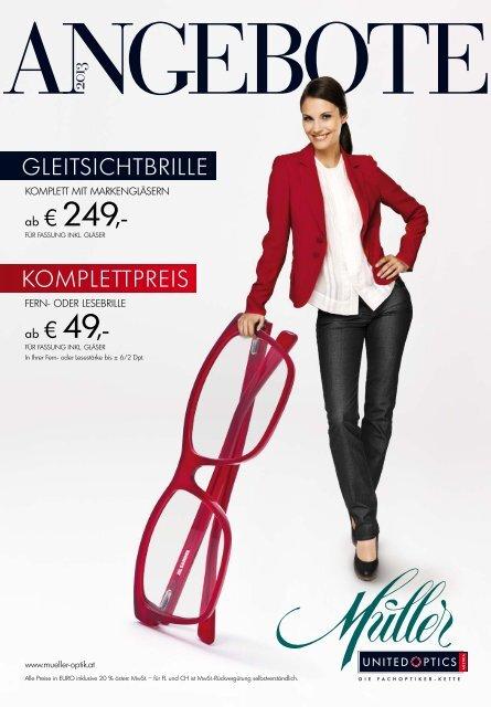 Wählen Sie für offizielle outlet Auschecken Komplettpreis GleitsiCHtBrille € € - Müller United Optics