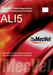 Attuatore Elettromeccanico Electromechanical Actuator - MecVel srl