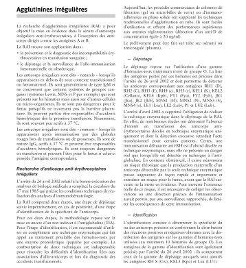 Extrait du guide des analyses spécialisées Cerba ... - CBM 25