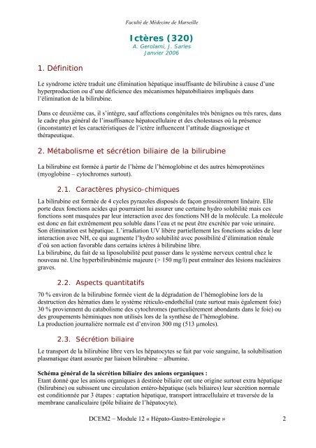 Icteres 320 Serveur Pedagogique De La Faculte De Medecine De