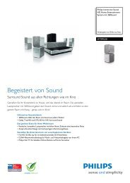 HTS9520/12 Philips HD Home Entertainment-System ... - Passiontec