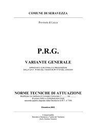 NTA PRG - Comune di Seravezza