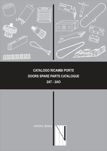 catalogo ricambi porte doors spare parts catalogue 2at - 2ao