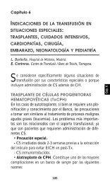 Capítulo 6:Indicaciones de la transfusión en situaciones ... - SEHH