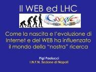 Il Web e LHC - INFN