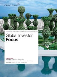 Global Investor Focus - Credit Suisse eMagazine - Deutschland