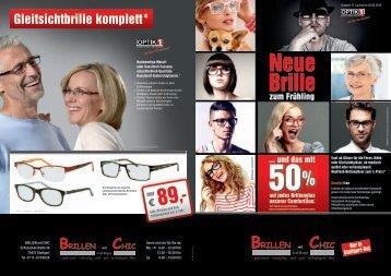 Gleitsichtbrille komplett* - in Rot