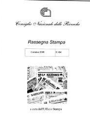 Page 1 Rassegna Stampa N.184 2 ottobre 2009 a cura de11'Ufñci0 ...