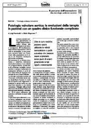 Patologia valvolare aortica: le evoluzioni della terapia in pazienti ...