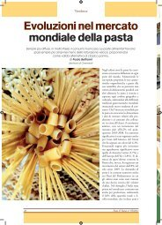 Evoluzioni nel mercato mondiale della pasta