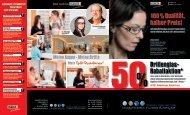 Brillenglas- Rabattaktion* 100 Qualität, halber Preis!