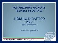 formazione quadri tecnici federali - Comitato Regionale Friuli ...