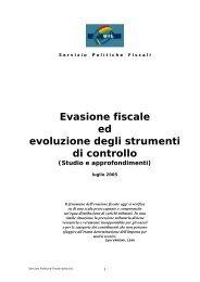Evasione fiscale ed evoluzione degli strumenti di controllo (Studio - Uil
