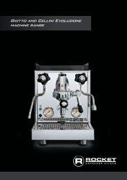 Giotto and Cellini Evoluzione machine range - Chris' Coffee Service