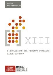 L'EVOLUZIONE DEL MERCATO ITALIANO FLASH 2008/09 - Generali