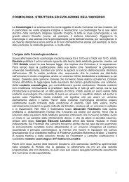cosmologia: struttura ed evoluzione dell'universo - Circolo Astrofili di ...