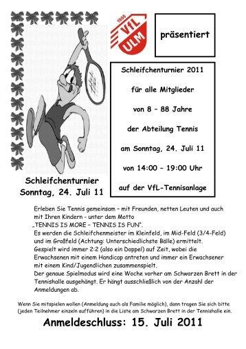 Schleifchenturnier 2011 - Einladung