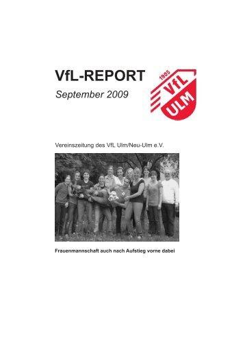 VfL-REPORT - (VfL) Ulm/Neu-Ulm eV