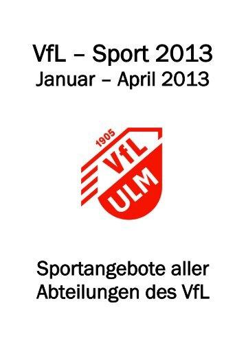 Aktuelle Kursübersicht Turnen und Freizeitsport - (VfL) Ulm/Neu-Ulm ...