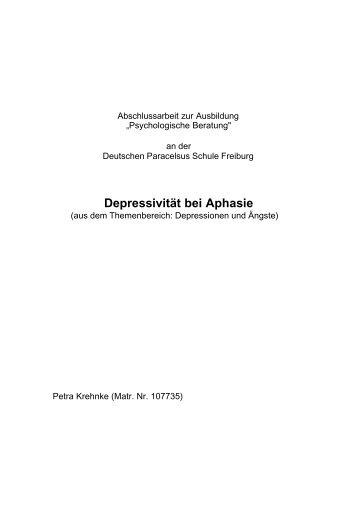 Depressivität bei Aphasie