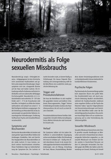 Neurodermitis als Folge sexuellen Missbrauchs