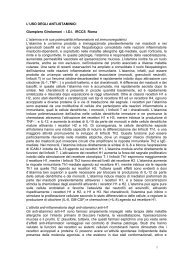 L'USO DEGLI ANTI-ISTAMINICI Giampiero Girolomoni – I.D.I. ...
