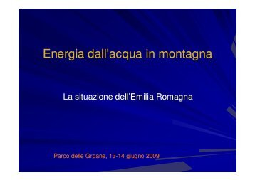 CRTAM Emilia - La situazione in Emilia Romagna