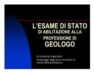 Slide Dott.Geol. Oliviero Lolli - 2^ parte - Ordine dei Geologi della ...