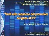 Diapositiva 1 - Medicina e Chirurgia - Università degli Studi di Firenze