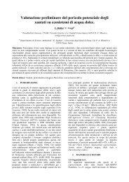 Valutazione preliminare del pericolo potenziale degli xantati su ...