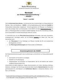 Merkblatt zur Anbaumaterialverordnung (AGOZV)