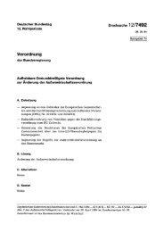 Verordnung - Deutscher Bundestag