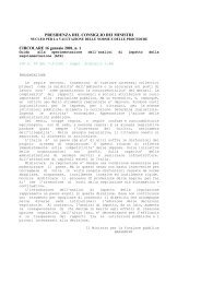 Circolare-Guida del 16.01.2001 - Consiglio italiano per le Scienze ...