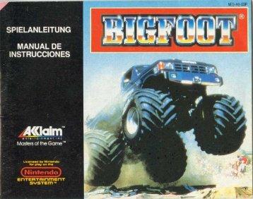 Manual Big Foot - Manuales de videojuegos
