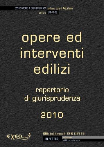 OPERE ED INTERVENTI EDILIZI - repertorio di ... - Exeo
