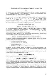 Schema delle condizioni generali di contratto - Cineca