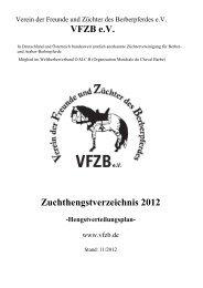 VFZB e.V. Zuchthengstverzeichnis 2012 - VFZB eV Verein der ...