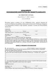avvalimento dichiarazione sostitutiva del soggetto ausiliato