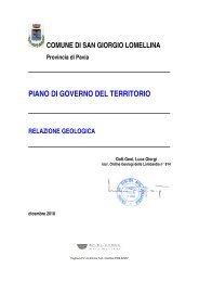 Relazione geologica - Reti Civiche Lomellina
