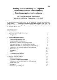 Entgeltsatzung Abwasser - Verbandsgemeinde Wachenheim