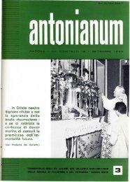 Settembre - Ex-Alunni dell'Antonianum