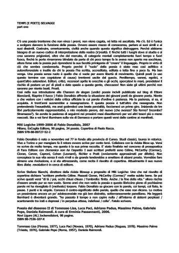 giovani poeti italiani sulla rivista spagnola ... - Rael-is-real.org