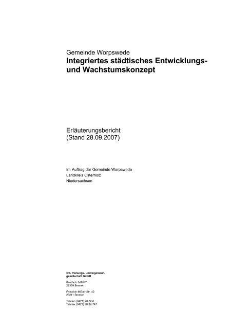 Integriertes städtisches Entwicklungs- und Wachstumskonzept - NIW