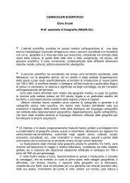 Curriculum vitae (Versione completa) - Facoltà di Lettere e Filosofia