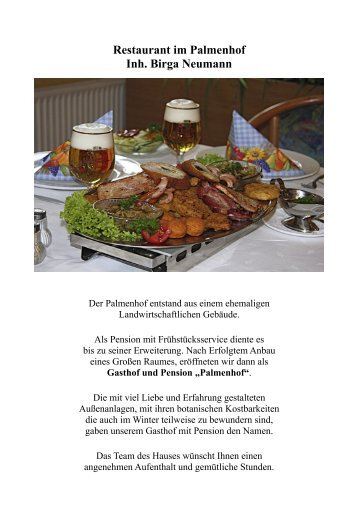 Restaurant im Palmenhof Inh.  Birga Neumann - Gasthof & Pension ...