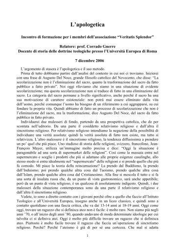VERITATIS SPLENDOR PDF ITALIANO PDF DOWNLOAD