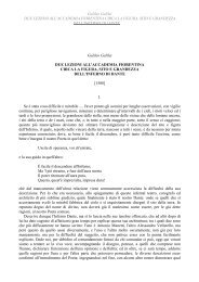 Galileo Galilei DUE LEZIONI ALL'ACCADEMIA ... - eBooksBrasil