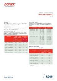 Domex Pole Sheet (Datasheet, PDF) - SSAB.com
