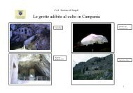 Le grotte adibite al culto in Campania - CAI Sezione di Napoli